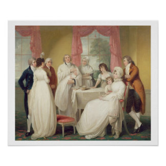 Christening of the Heir, c.1799 (oil on canvas) se Poster