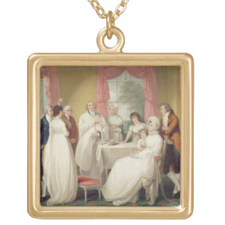 Christening of the Heir, c.1799 (oil on canvas) se Square Pendant Necklace