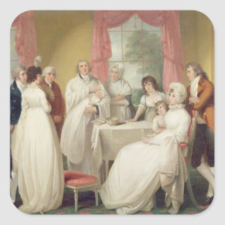 Christening of the Heir, c.1799 (oil on canvas) se Square Sticker