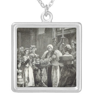 Christening of the Princess Louise Silver Plated Necklace
