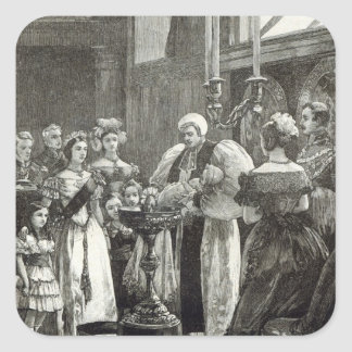 Christening of the Princess Louise Square Sticker