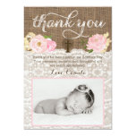 Christening or Baptism thank you card with photo