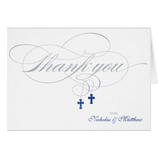 Christening or First Communion Thank You Card