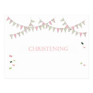 Christening Postcard