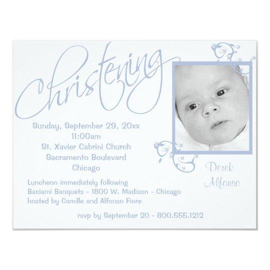 Christening Scroll For Baby Boy Card