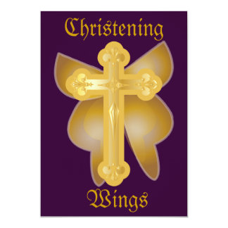 Christening Wings Invitation-Customize