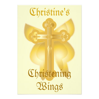 Christening Wings Invitation-Customize