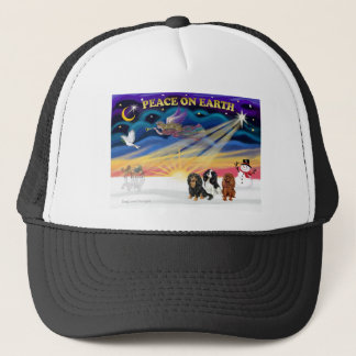 Christgmas Sunrise - Cavalier King Charles (three) Trucker Hat