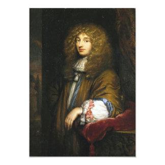 Christiaan Huygens Portrait by Bernard Vaillant 5x7 Paper Invitation Card