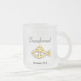 Christian 10 Oz Frosted Glass Coffee Mug
