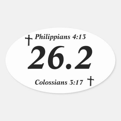 Christian 26.2 Sticker