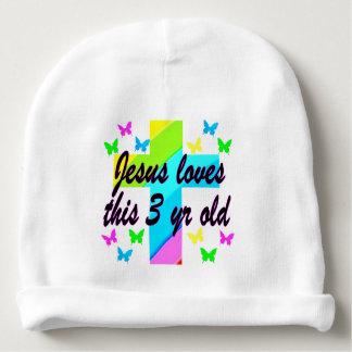 CHRISTIAN 3 YR OLD BIRTHDAY PRAYER DESIGN BABY BEANIE