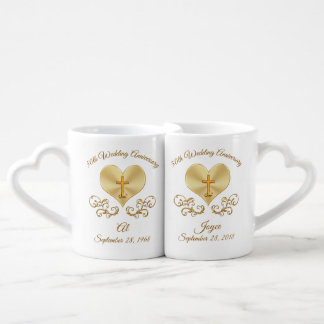 Christian 50th Wedding Anniversary Gift Ideas Coffee Mug Set