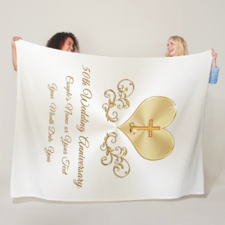 Christian 50th Wedding Anniversary Gift Ideas Fleece Blanket