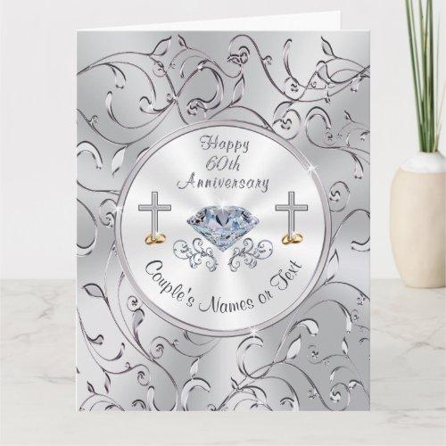 Christian 60th Wedding Anniversary Cards