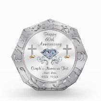 Christian 60th Wedding Anniversary Presents Acrylic Award