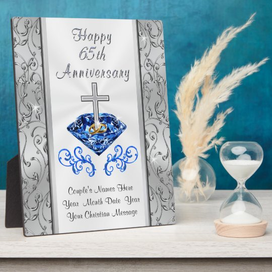 Christian 65 Years Wedding Anniversary Gifts Plaque Zazzle