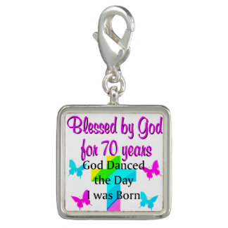 CHRISTIAN 70TH BIRTHDAY CHARM