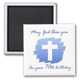 Christian 70th Birthday Gifts 2 Inch Square Magnet