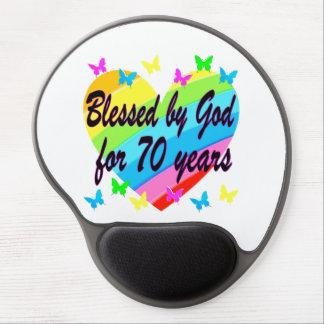 CHRISTIAN 70TH BIRTHDAY HEART DESIGN GEL MOUSE PAD