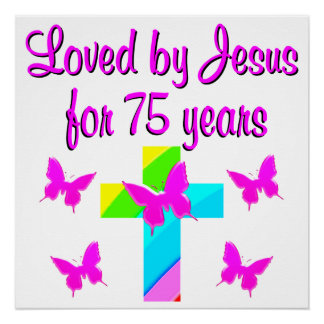 CHRISTIAN 75TH PERSONALIZED BIRTHDAY DESIGN POSTER