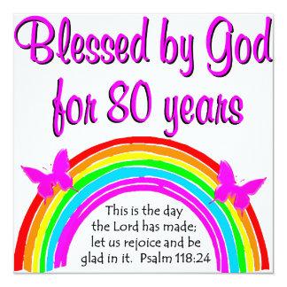 CHRISTIAN 80TH BIRTHDAY CARD