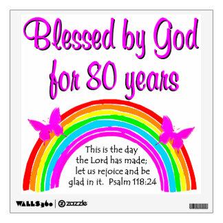 80th birthday prayer just bcause
