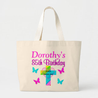 CHRISTIAN 85TH BIRTHDAY PERSONALIZED TOTE BAG