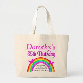 CHRISTIAN 85TH BIRTHDAY RAINBOW TOTE BAG