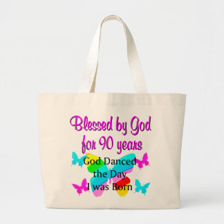 CHRISTIAN 90 YEAR OLD LARGE TOTE BAG