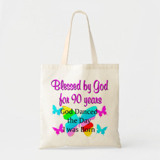 CHRISTIAN 90 YEAR OLD TOTE BAG