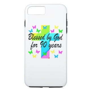 CHRISTIAN 90TH BIRTHDAY PRAYER DESIGN iPhone 8 PLUS/7 PLUS CASE
