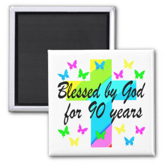 CHRISTIAN 90TH BIRTHDAY PRAYER DESIGN MAGNET