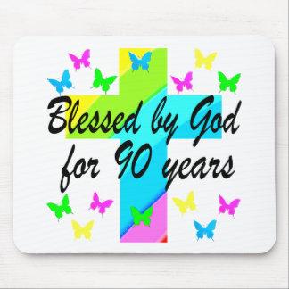 CHRISTIAN 90TH BIRTHDAY PRAYER DESIGN MOUSE PAD