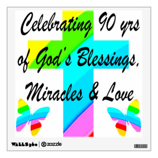 CHRISTIAN 90TH WALL STICKER