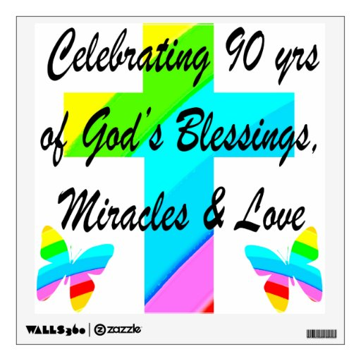 christian 90th wall sticker zazzle christian wall decals promotion shop for promotional