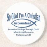 Christian Accountant Drink Coaster