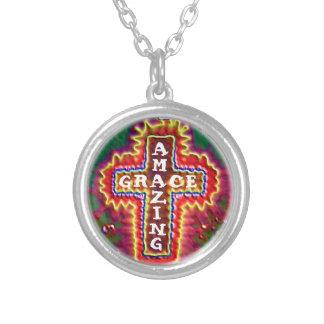 Christian Amazing Grace Cross Necklace