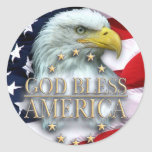 CHRISTIAN AMERICAN DESIGNS CLASSIC ROUND STICKER