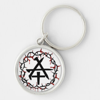 Christian Anarchy Silver-Colored Round Keychain