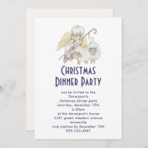 Christian Angel Shepherd with Sheep Dinner Party Invitation