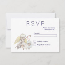 Christian Angel Shepherd with Sheep RSVP