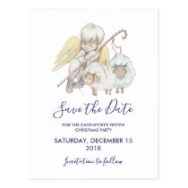 Christian Angel Shepherd with Sheep Save the Date Postcard