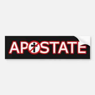 Christian Apostate Bumper Sticker