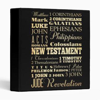 Christian Art - Books of the New Testament. 3 Ring Binder