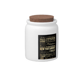 Christian Art - Books of the New Testament. Candy Jars