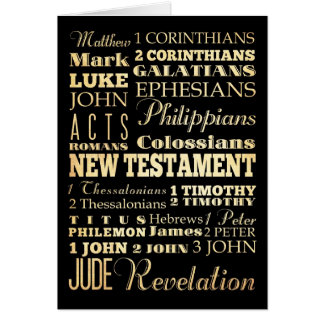Christian Art - Books of the New Testament. Cards