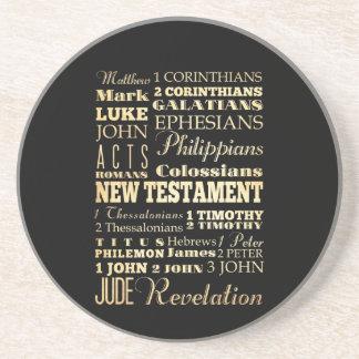 Christian Art - Books of the New Testament. Beverage Coaster