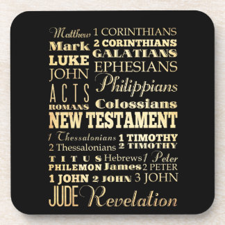 Christian Art - Books of the New Testament. Beverage Coasters