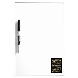 Christian Art - Books of the New Testament. Dry Erase Boards